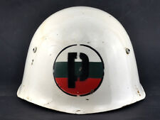 EARLY 50's BULGARIAN M51 MILITARY POLICE MP STEEL HELMET #59 LIKE ITALIAN M33