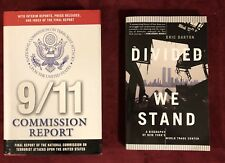 September 11 Book Lot - 2 - 9/11 Commission Report HC/DJ - Divided We Stand PB