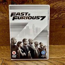 Fast & Furious 7 2015 Vin Diesel Action Dvd Film Action Vgc Free Uk P&p