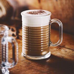 6x Luminarc Conserve Moi 320ml Coffee Mug Glass Cappuccino Tea Hot Drink Cocoa