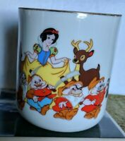 Disney Snow White and Seven Dwarfs Vintage Japan Walt Disney Productions Mug