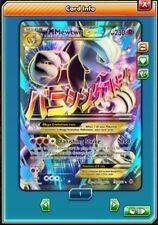 Pokemon ONLINE M Mewtwo EX Ultra Rare 159/162 XY Breakthrough PTCGO Mega