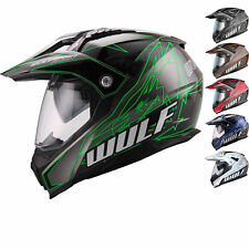 Wulfsport Prima-X Adventure DVS Motocross Helmet MX Enduro Off Road Dual Sports