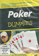 DVD + Poker für Dummies + Kartenspiel + Regeln + Strategien + Grundlagen +