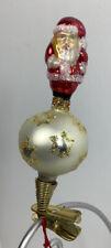 New ListingChristopher Radko Clip On Holiday Star Santa Ornament