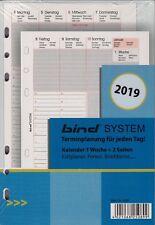 Bind System A5 2019 Kalendereinlage 1Woche/2Seiten Wochenblätter multil. B250819
