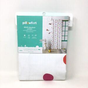 "1 Panel Pillowfort Polka Dot Blackout Curtain Panel Multicolor Cotton 42"" x 84"""