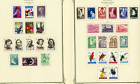 Belgium Stamps All Mint 1950's-1960's Sets & Singles on pages
