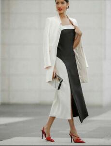 Zara LIMITED EDITION Contrast Wool Blend Dress Size Medium RRP £99.99