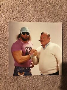 "Wrestling Vintage 5x7 photo, mid-1980s, ""Macho Man"" Savage and Arnold Skaaland"