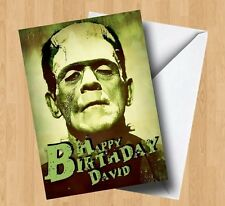 Personalised Frankenstein/Horror/Monster/Zombie Birthday Card
