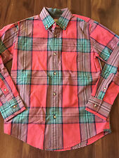 NEW boys CREWCUTS BUTTON DOWN DRESS SHIRT red green COLLARED holiday SIZE 10 nwt