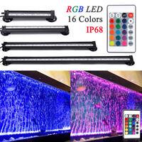 Colorful RGB LED Air Bubble Curtain Submersible Light Bar for Fish Tank Aquarium