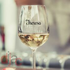 VINYL DECAL 1 x NAME OR WORD STICKER FOR WINE GLASS