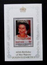 St Lucia-1986-$6 QEII Birthday Minisheet-MNH