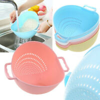RICE WASHER STRAINER KITCHEN TOOLS FRUITS VEGETABLE CLEANING CONTAINER BASKET UK