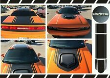 Dodge Challenger Counter Shaker Center Stripes Decals Hood Top Trunk