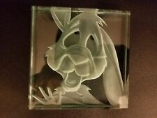 Disney Robert Guenther Rabbit of Winnie the Pooh Etched Glass Paperweight 8/1000