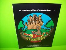 Universal MR. DO!'s CASTLE Magazine Ad For Video Arcade Game Not a Sales Flyer