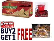 HIBISCUS Natural Product - 20 Tea Bags, BUY 2 GET 1 FREE ,BIOPROGRAMME