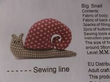 BIG SNAIL STUFFED ANIMAL COMPLETE NEW SEWING CRAFT KIT FUN PROJECT 38cm x 25cm