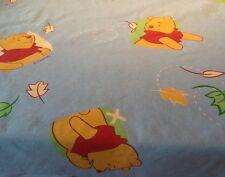Fabric. Disney vintage Winnie The Pooh Fabric On Light Blue , Fat Quarter, Craft