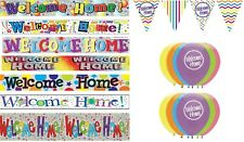 WELCOME HOME PARTY DECORATIONS BANNER BALLOONS BUNTINGS