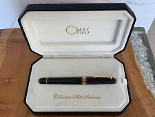 More details for omas paragon dark brown rollerball pen