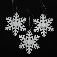 Iridescent Sparkling Snowflake Christmas Ornaments (12 Pack)