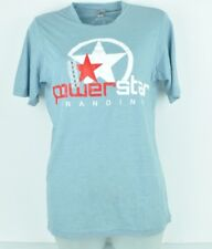 Next Level Apparel Power Star Branding Baby Blue Red White Small Tshirt Cotton