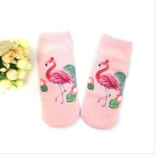 New Casual Ankle Socks 1Pair Fashion flowers with unicorn print Cotton Blend 242