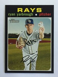 2020 Topps Heritage #267 Ryan Yarbrough Tampa Bay Rays