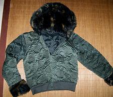 SANETTA DOWN UNDER Winter Jacke Kurzbund 140 Kapuze Fell Navy Stil Mädchen #72