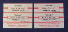 Lot of 4 Jukebox Tags 45 Rpm Title Strips Kool & The Gang