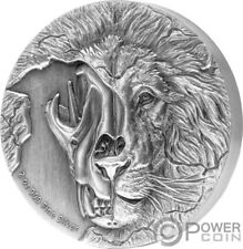 ASIATIC LION SKULL Beasts Skull 2 Oz Silver Coin 5$ Niue 2018