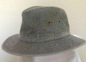 STETSON * MENS OLIVE SAFARI HAT * M or L * NEW RAIN SUN GOLF FISHING HIKING UPF