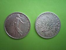 Pièce de 5 F Francs  en Argent SEMEUSE 1963 Signée A.Roty