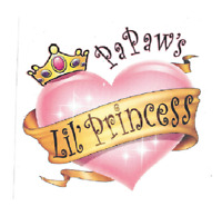 Paw-Paw princess t shirt girl one piece infant toddler youth US size *