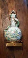 Rare Lampe Chinois Decor a identifié signé ?? 49cm