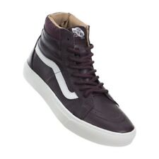 Vans SK8 HI CUP Leather Iron Brown/White Women's Shoes 7.5 US