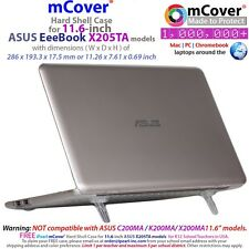 """NEW mCover Hard Shell Case for 11.6"""" ASUS EeeBook X205TA / E200HA Windows Laptop"""