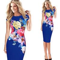 Fashion Women's Ladies Slim Pencil Dress Bodycon Mini Short Dresses