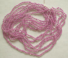 LILAC PURPLE VINTAGE COLOR-LINED GLASS 11/0 SEED BEADS LOT