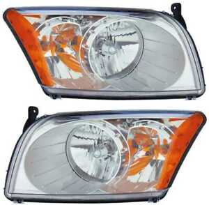 FOR DODGE CALIBER 2007 2008 2009 2010 2011 2012 HEADLIGHTS RIGHT & LEFT PAIR
