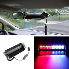 8LED RED & BLUE Car Truck Dash Strobe Flashing Light for Emergency Warning