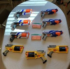 Nerf Elite N Strike Guns Lot Of 9. Strongarm,Maverick Rev-6,Disruptor & Bullets