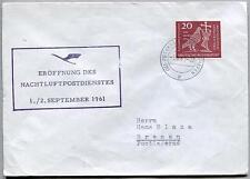 FFC 1961 Lufthansa PRIMO VOLO - Francoforte Bremen