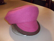 NWT Made Of Me HOT PINK News Paper Boy Cap Cabbie Hat Beanie Beret S Retail $24