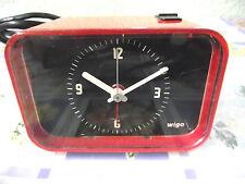 60er 70er  Wecker Elektrowecker ROT Alarm Panton Vintage Space Age shabby chic