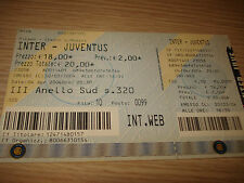Billet Ticket Série à 2003/2004 Inter Juventus 04/04/2004 3° Bague Sud